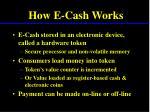 how e cash works