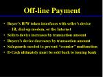 off line payment