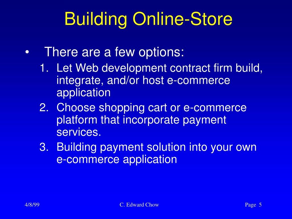 Building Online-Store