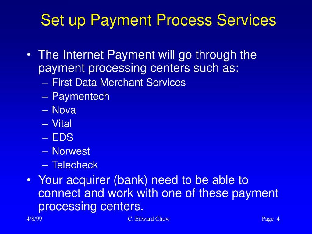 Set up Payment Process Services