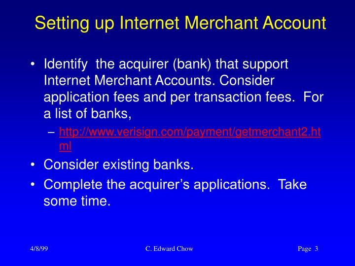 Setting up internet merchant account