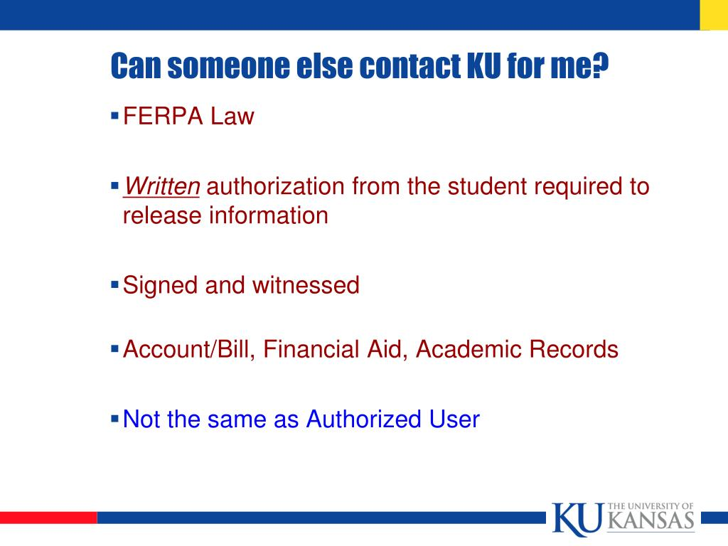 Can someone else contact KU for me?