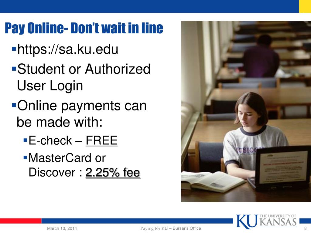 Pay Online- Don't wait in line
