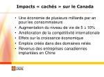 impacts cach s sur le canada