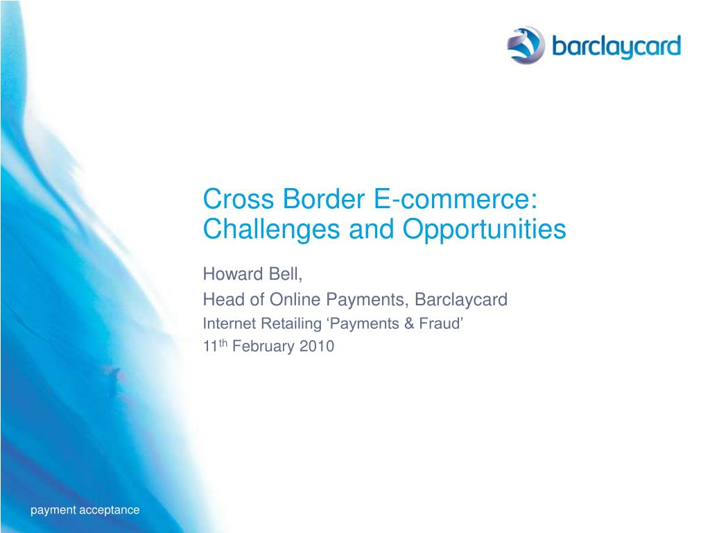 Cross Border E-commerce: