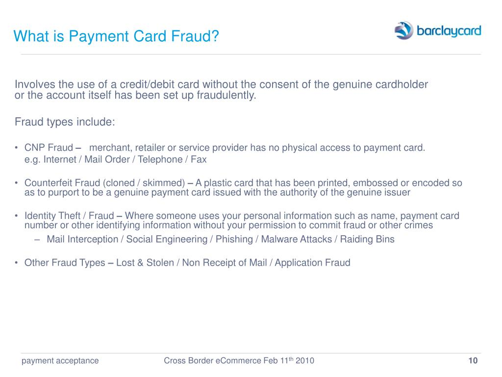 What is Payment Card Fraud?