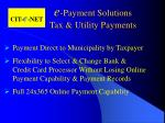 e payment solutions tax utility payments