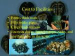 cost to facilities