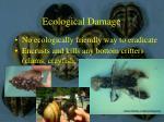 ecological damage