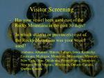 visitor screening