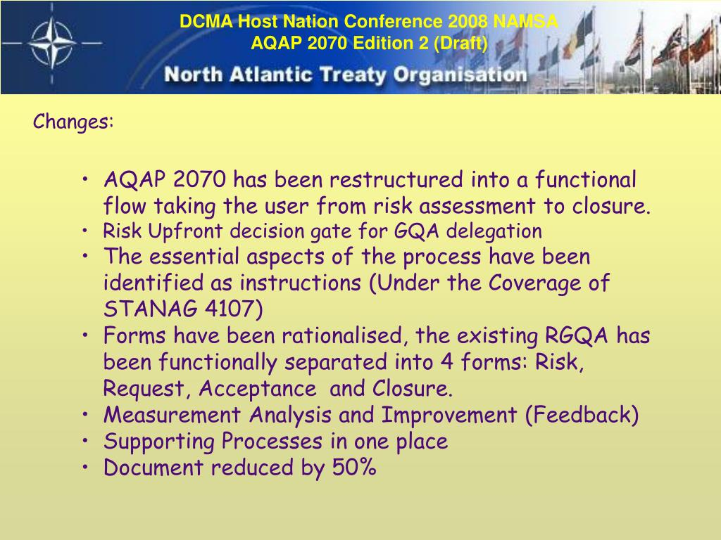 Svs stanag 4107(8) aqap ministrstvo za obrambo.