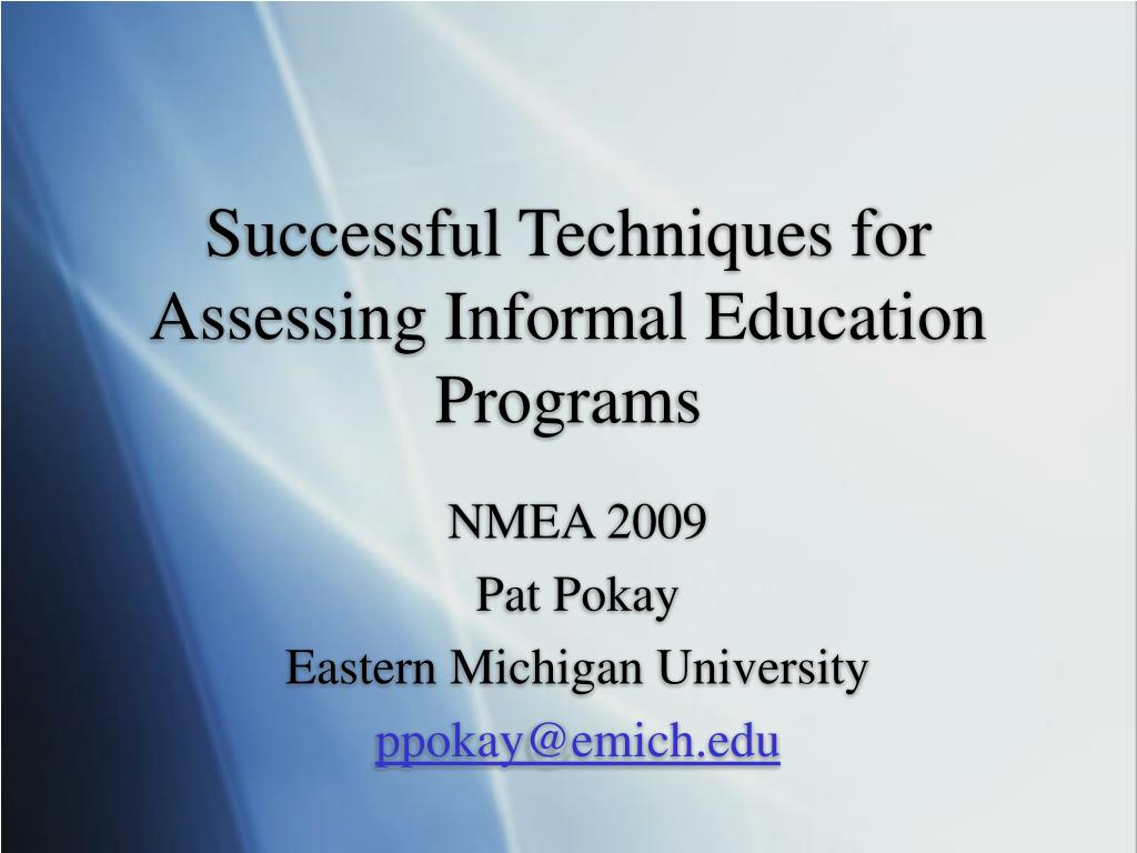 successful techniques for assessing informal education programs l.