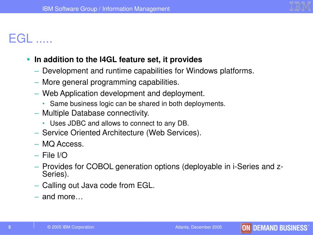 PPT - Converting Your Informix 4GL Application to EGL