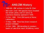 ans zm history