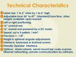 technical characteristics6