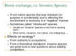 biotic exchange i e invasive species