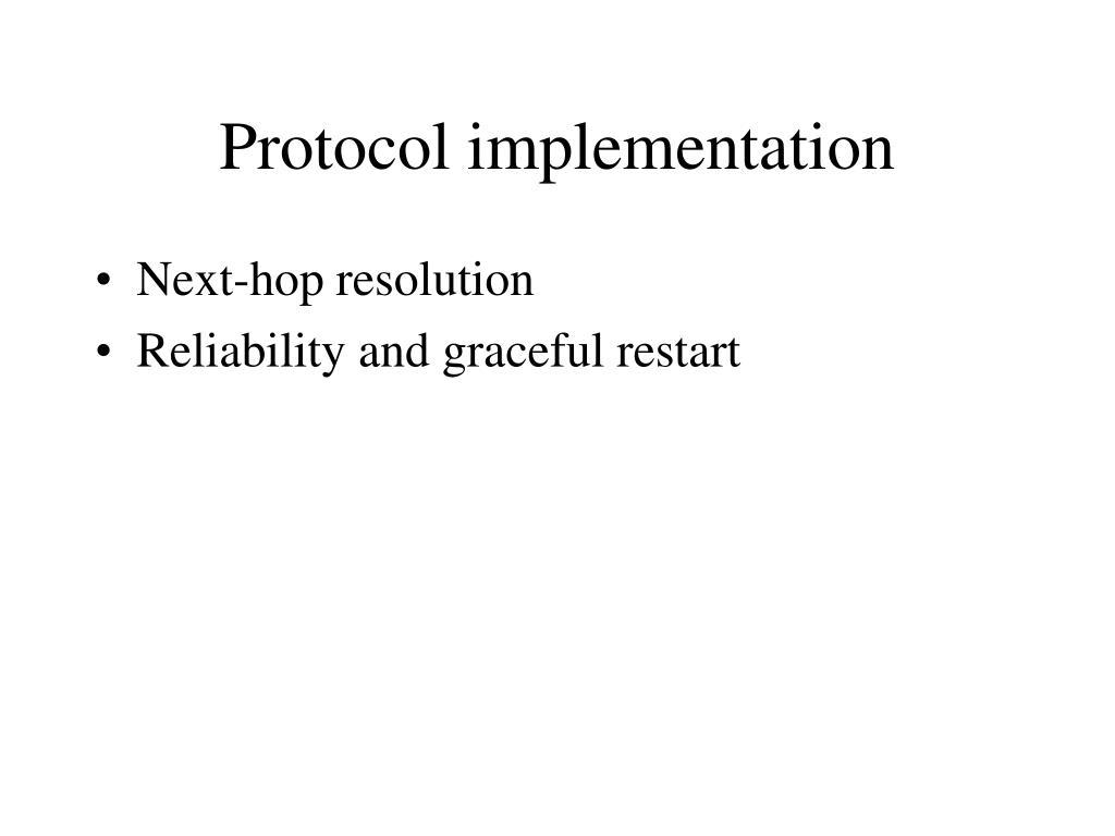 protocol implementation l.