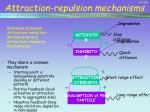 attraction repulsion mechanisms
