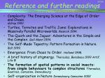 reference and further readings