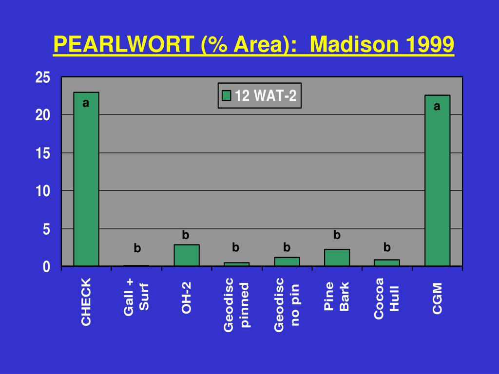 PEARLWORT (% Area):  Madison 1999