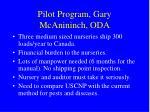 pilot program gary mcanininch oda
