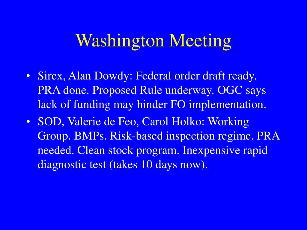 Washington Meeting