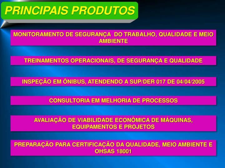 PRINCIPAIS PRODUTOS