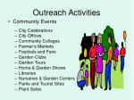 outreach activities