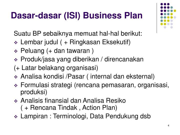 Ppt Dasar Dasar Penyusunan Business Plan Powerpoint Presentation