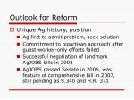 outlook for reform