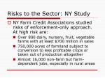risks to the sector ny study