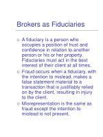 brokers as fiduciaries