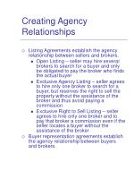 creating agency relationships