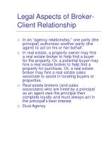 legal aspects of broker client relationship
