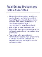 real estate brokers and sales associates