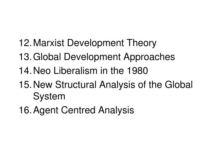 Marxist Development Theory