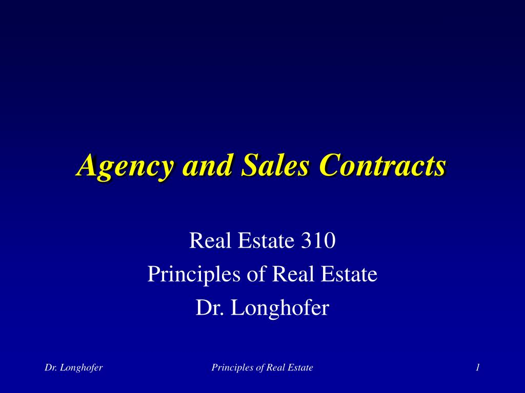 agency and sales contracts l.