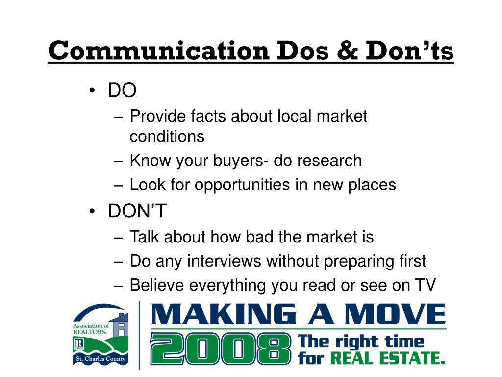 Communication Dos & Don'ts