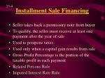 installment sale financing