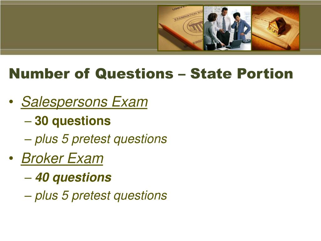 Number of Questions – State Portion