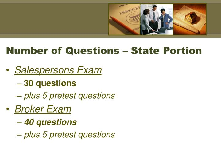 Number of questions state portion