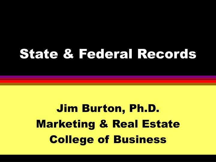 state federal records n.