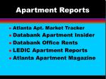 apartment reports