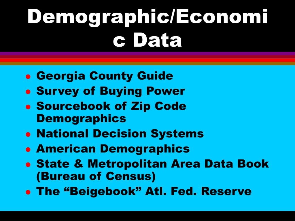 Demographic/Economic Data