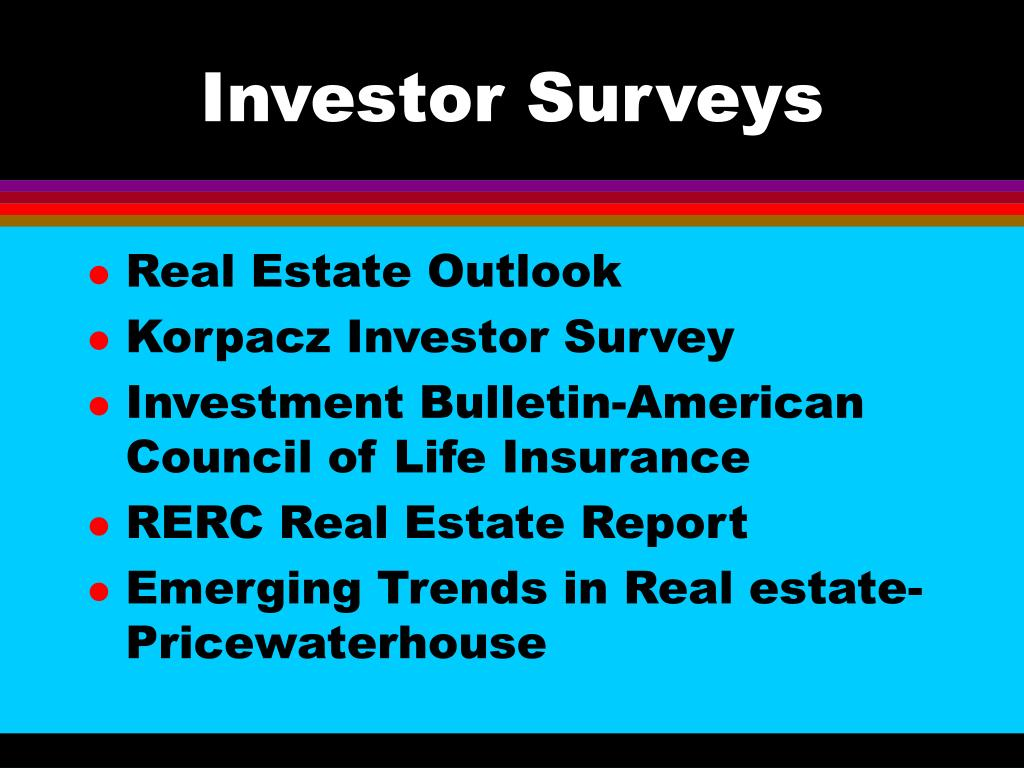 Investor Surveys