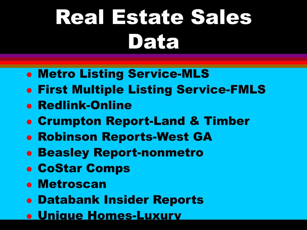 Real Estate Sales Data