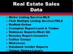 real estate sales data