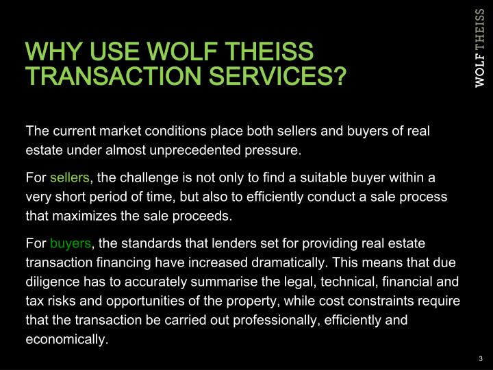 Why use wolf theiss transaction services
