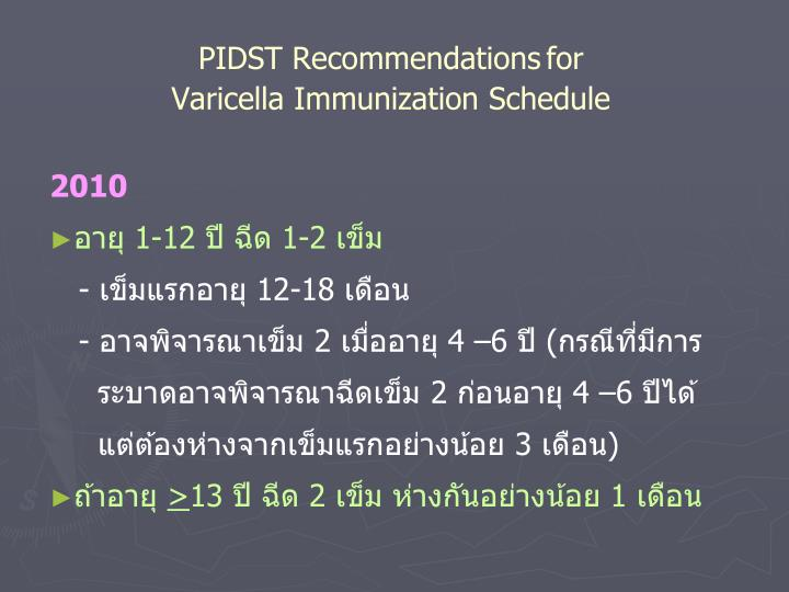 PIDST Recommendations