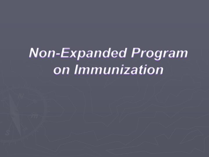 Non-Expanded Program on Immunization